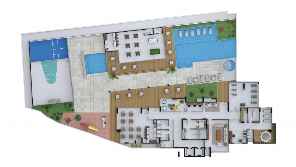 Área de Lazer - Residencial Dr. Hermann Blumenau